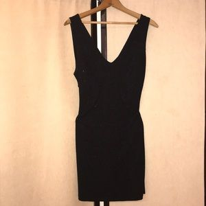Caprices Black Cocktail Dress With Open Back